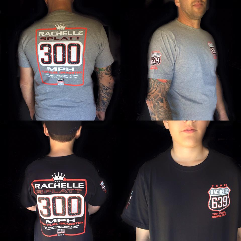 Commemorative Rachelle Splatt Racing 300mph Tee - Male