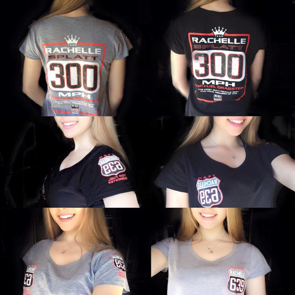 Commemorative Rachelle Splatt Racing 300mph Tee - Female