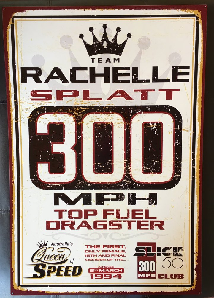 300mph World Record Tin Sign-Large